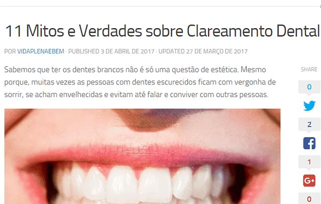 11 Mitos e Verdades sobre Clareamento Dental - Portal Vida Plena e Bem Estar