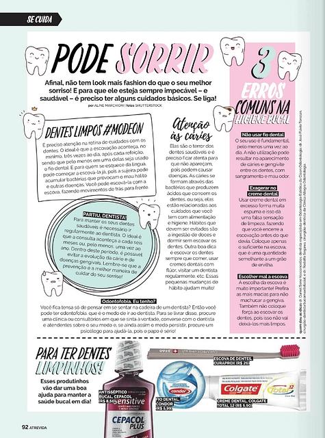 Dr Daniel Sene na Revista Atrevida